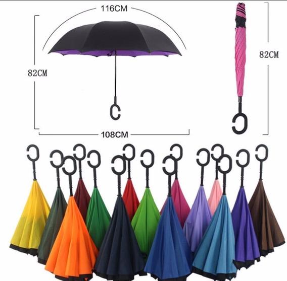 Paraguas Invertido Importado Original No Mojes Nada