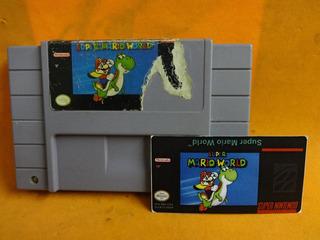 Super Mario World Orig/ Super Nintendo Snes + Label Reserva