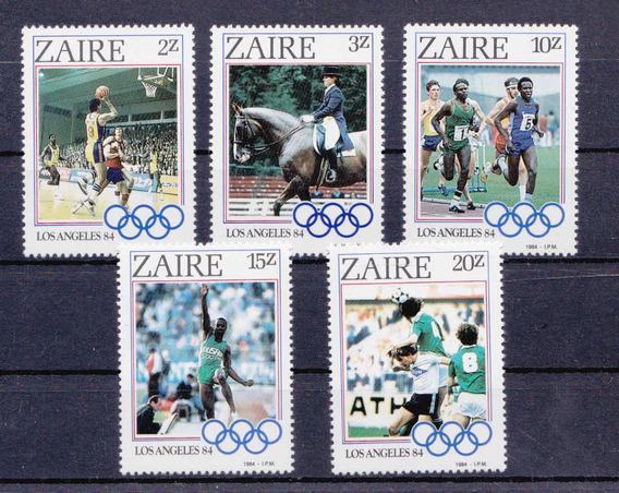 Sellos Zaire 1984 Juegos Olimpicoslos Angeles Completa Mint