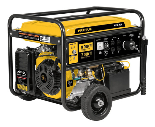 Imagen 1 de 2 de Generador portátil Pretul GEN-70P 8000W bifásico 120V/240V