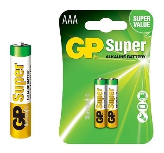 Pilas Aaa Gp Super Alcalina 1.5v 2 Blister De 2pilas