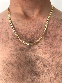 Colar Masculino Corrente Banhado Em Ouro 18k Semi Joia