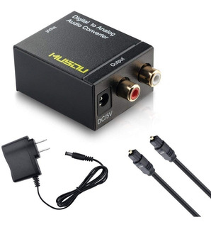 Musou Convertidor Digital Optico Coaxial Analogo Rca Audio