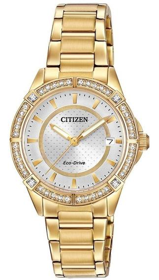 Reloj Citizen Eco-drive Gold Para Mujer Original Fe6062-56a