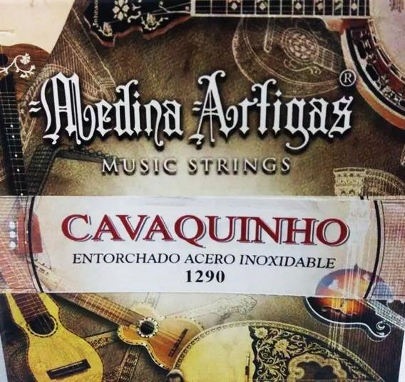 Encordado Cavaquinho M.artigas Set 1290 Entorchado Acero