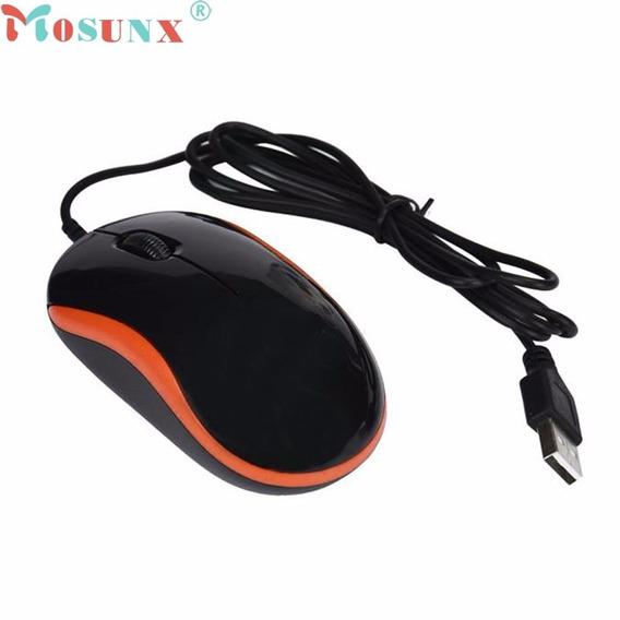 Mouse Optico Laranja Com Fio Frete Gratis !!!