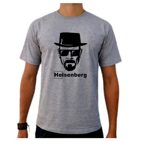Camiseta Cinza Breaking Bad Heisenberg White Série Tv 04
