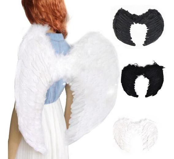 Alas De Angel Negro Grandes Para Adolecentes Adultos