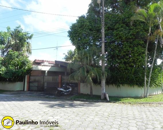 Casa Térrea Ampla E Arejada Em Balneário De Alto Padrão A 200 Metros Da Praia Em Peruíbe. - Ca02798 - 32181602