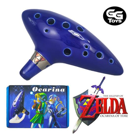 Ocarina Legend Of Zelda Cerámica 15x 10x 5 Cm Viene En Caja