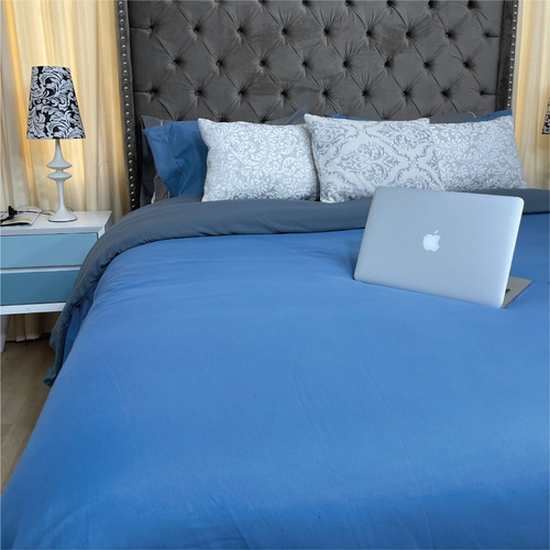 Duvet King Doble Faz Navy - Gris Karytex