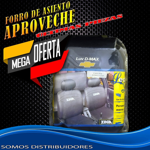 Forro De Asiento Zega Para Vehículos Chevrolet Luv D-max