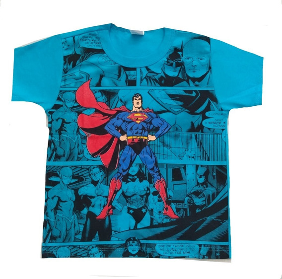 Kit C/10 Camisa Camiseta Infantil Menino Personagem Atacado