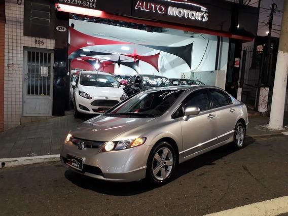 New Civic Lxs Mecanico 2007 Flex Financio Com Ou S/ Entrada