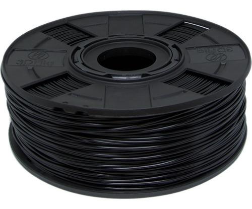 Filamento Abs Premium 1,75 Mm 500g Preto 3d 3dfila