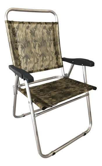 Cadeira De Praia Zaka Cancun Plus C/ Porta Copo Camuflada