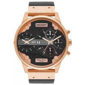 Relógio Orient Mrsct001 P1sx Masculino Preto Couro- Refinado