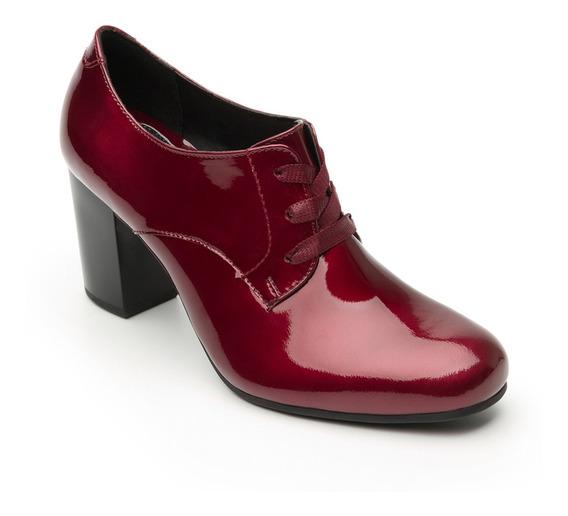 Zapato De Tacón De Vestir Flexi Dama 37903 Vino