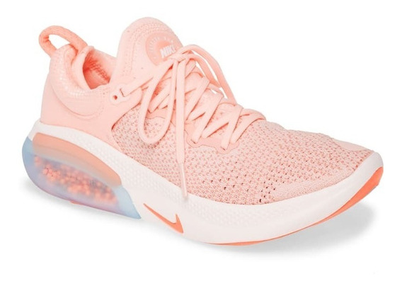 Joyride Run Flyknit Run Feminino Lançamento 2020 Rosa Branco