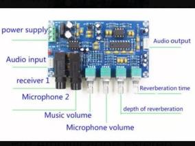Placa Pre Amplificador Reverb Karaokê Xh - M173