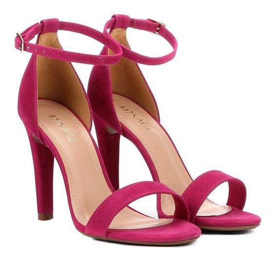 Sandália Feminina Salto Alto Pink Preta Tendencia 1906945