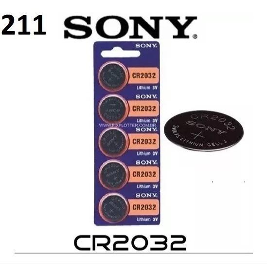Bateria Sony Moeda Lithium Cr2032 3v Cartela 5 Und Placa Mãe