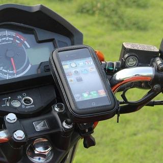 Suporte De Guidão Capa Celular À Prova Dágua Moto Bike