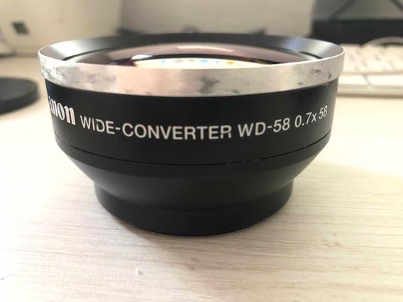 Lente Canon Wd-h58 0,7x58 - Envio Imediato