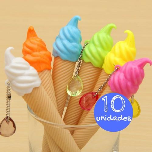 Caneta Sorvete Ice Cream Festa Criativa Brinde Festa 10un