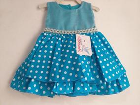 Vestido Bebe Azul De Poá
