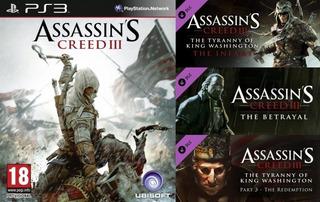 Assassins Creed 3 + Season Pass Dlc ~ Ps3 Digital