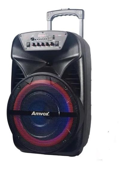 Caixa De Som Amplificada Aca Amvox Fm Bluetooth Usb Bivolt