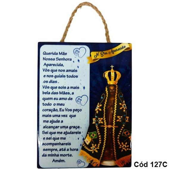 Quadro Enfeite Decorativo Nossa Senhora Aparecida Cód 127c