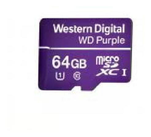Cartao De Memoria Micro Sd 64 Gb Wd Purple