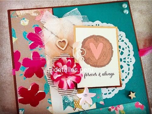 Album Fotos Enamorados Personalizado Scrapbook Love 25 Fotos