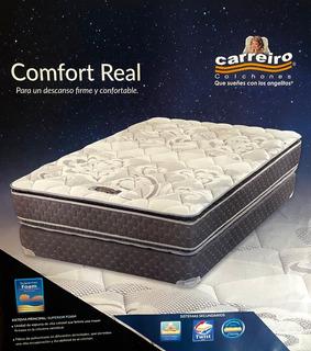 Colchón Comfort Real Descanso Firma Y Confortable Ortopédico