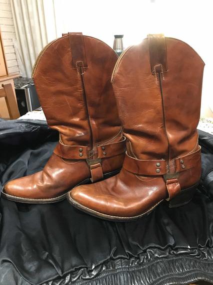 Botas De Cuero Tipo Texanas