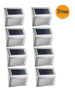 Luz Solar Exterior Impermeable De Acero Inoxidable; Ideal Pa
