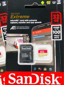 Sandisk Extreme Micro Sd 32gb 100 Mb/s Original Lacrado