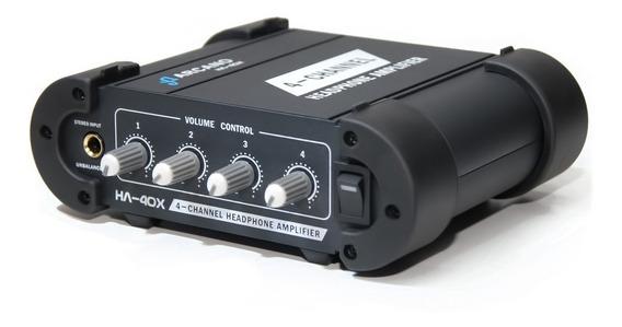 Amplificador De Fones Profissional Ha-40x Robusto 110v