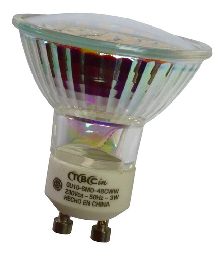 Lámpara Dicroica Led 3 Watt Luz Fria Gu10