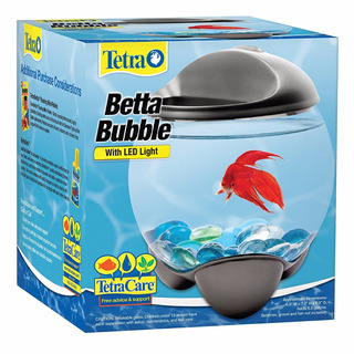 Betera Tetra Bubble Burbuja Luz Led Tapa 1.9lt Pecera Betta