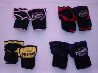 3 Bandagens Elástica Rápida P/ Muay Thai Boxe Mma Fheras