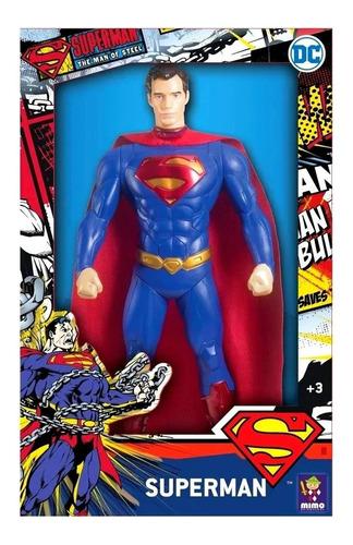 Boneco Super Homem Classico 45cm Liga Da Justiça Mimo 0927