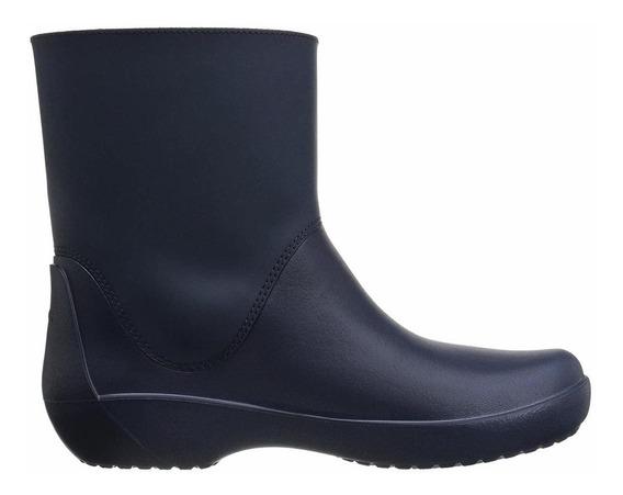 Crocs Bota De Lluvia Rainfloe Bootie C203417 410 Azul Marino