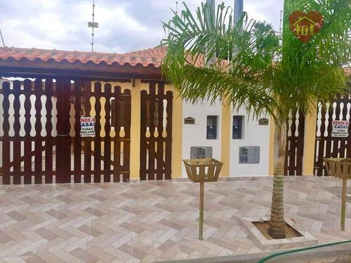 Casa Nova Lado Praia Com 3 Dormitórios Em Localização Privilegiada Em Itanhaém. - Ca1010