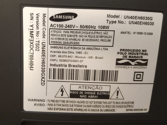 Tv Samsung Led 3d Modelo Un40eh6030g Display Quebrado