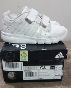 Zapatos Deportivos Escolares adidas Blancos Talla 11c O 28.5