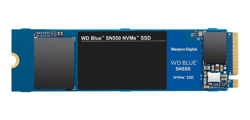 Imagen 1 de 4 de Disco sólido SSD interno Western Digital  SN550 WDS100T2B0C 1TB azul