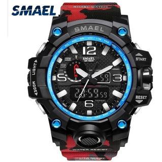 Reloj Deportivo Smael Sumergible Camuflado Varios Colores